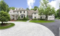Gracefully sited on manicured level 3.24 acres. Sprawling custom built residence features 7000+ SQ FT w/ 5BRS 7.5 Baths. Private and convenient to quaint Wilton Town Center. Fully equipped free standing guest house. Gated entry set back from road.